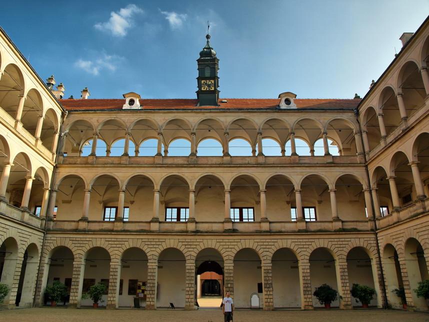 Inside Castle Complex in Litomyšl