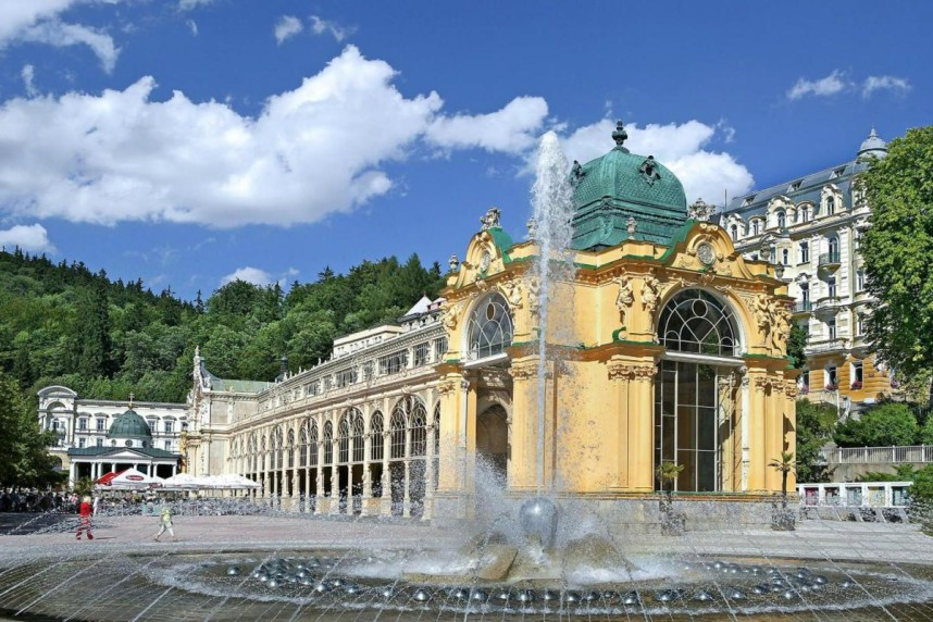 The Singing Fountain in Marianske Lazne