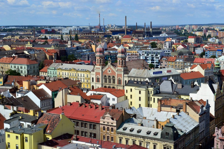 Panorama of Plzen