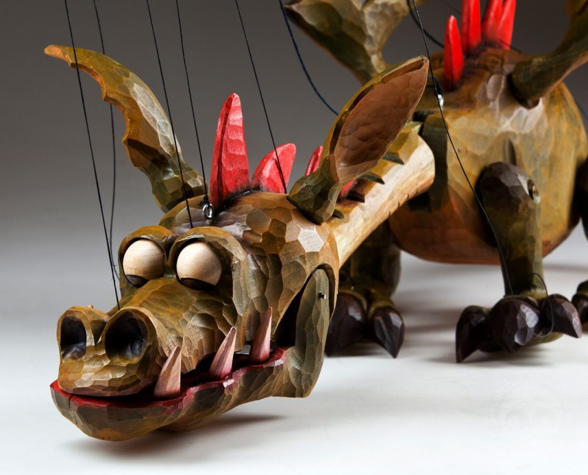 Czech Marionettes dragon