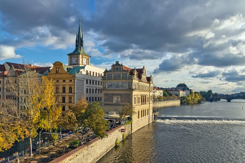 Smetana embankment, Prague