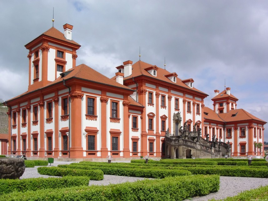 Frontage of Troja Palace
