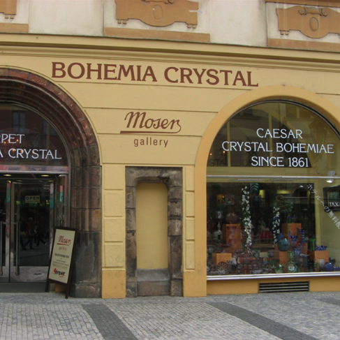 Bohemia crystal shop