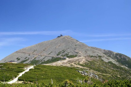 The highest mountains in the Czech Republic