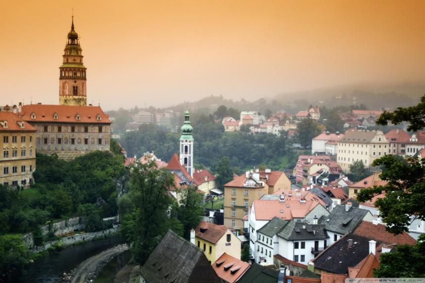 Overlooking the town of Cesky Krumlov