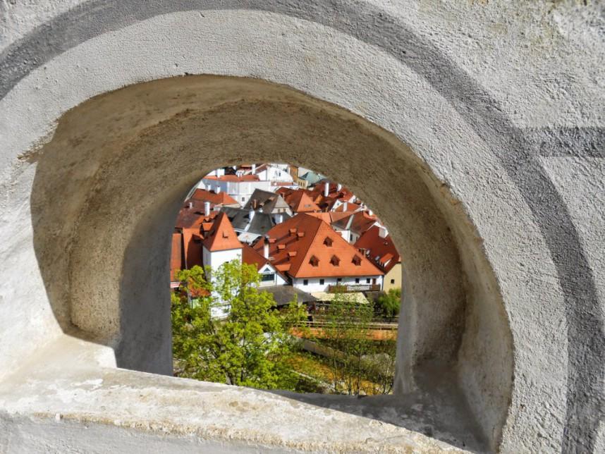 Wall in Cesky Krumlov Castle