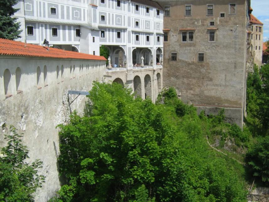 Cloak Bridge in Cesky Krumlov Castle
