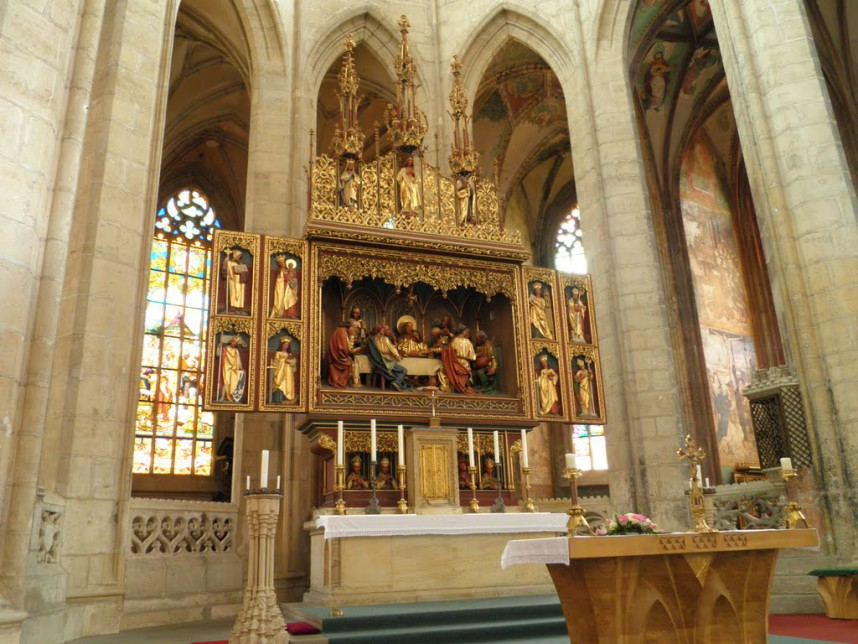 Church of St. Barbara, interior