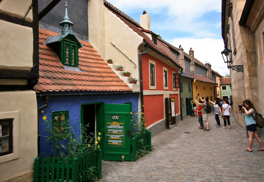 Colored houses at Golden Lane