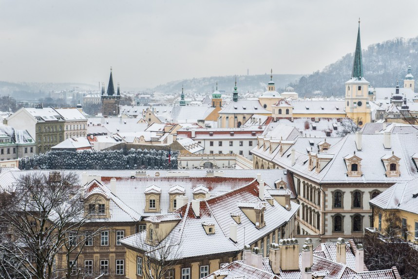 Prague in winter