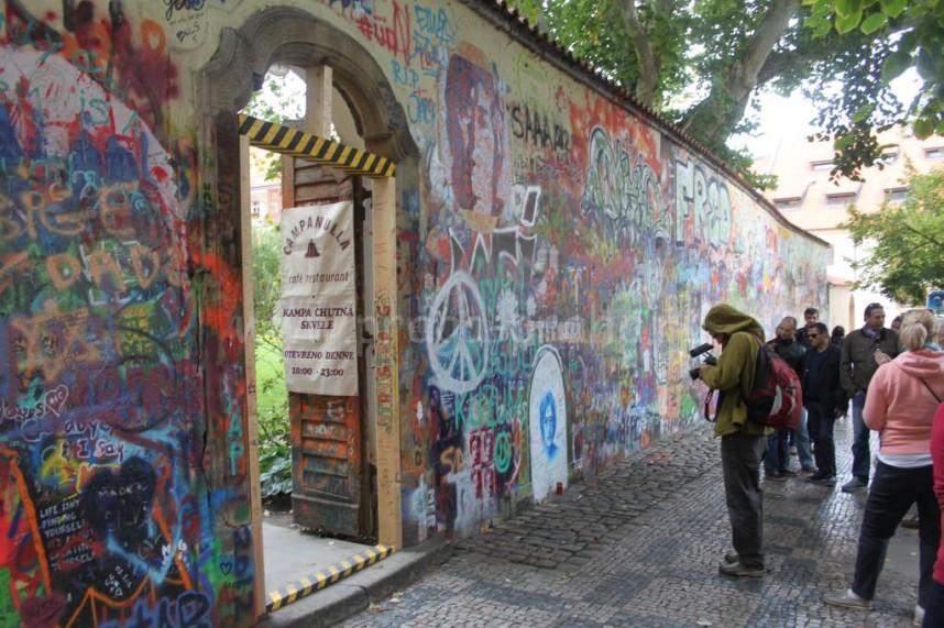 Wall in Prague
