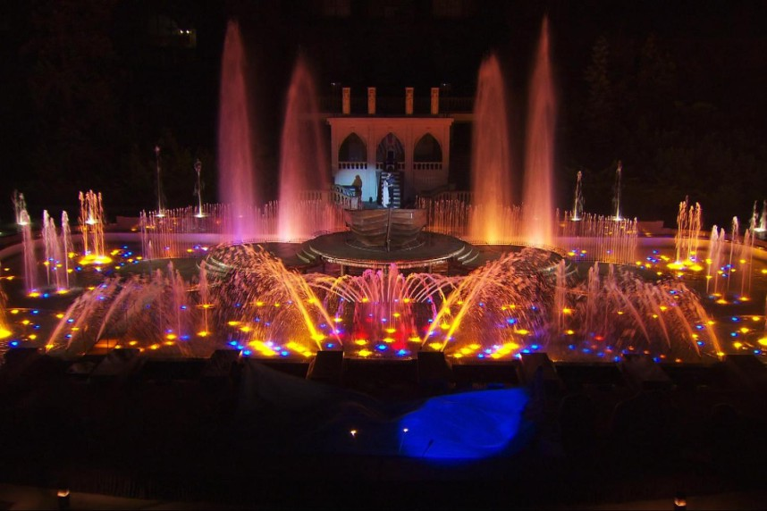 Krizik Fountain at night