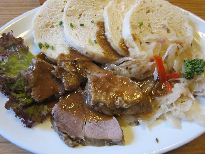 Pork roast with dumplings and sauerkraut