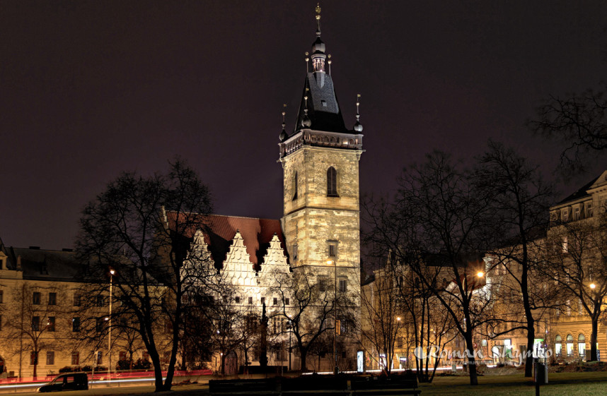 New Town Hall at night