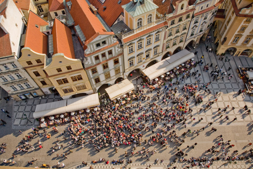 Top view of the Old Town Square