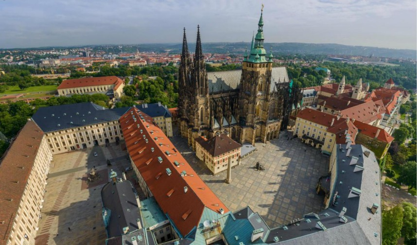 Prague Castle over Vltava river