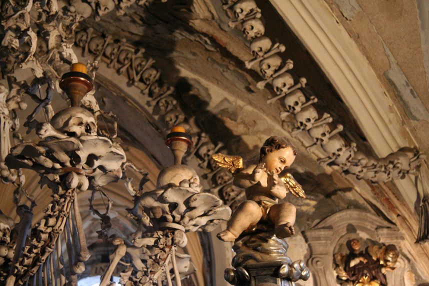 Angel in Sedlec Ossuary