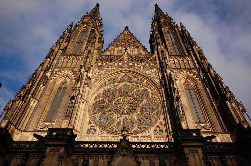 Frontage of St. Vitus Cathedral