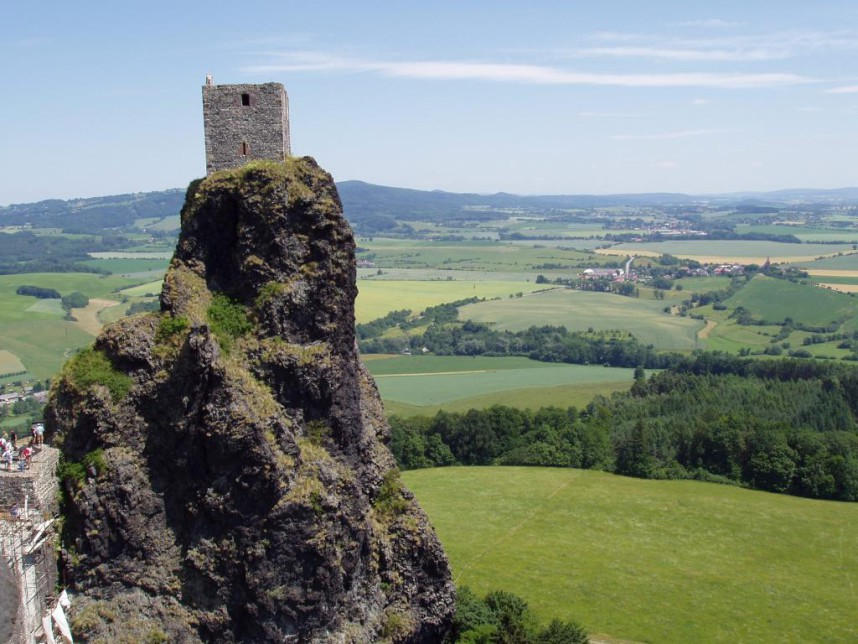 The tower Trosky Castle