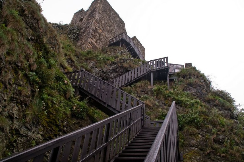 Stairs in Trosky Castle