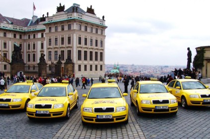 Taking a taxi in Prague