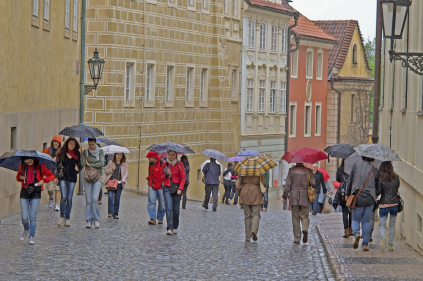 Prague on rainy days